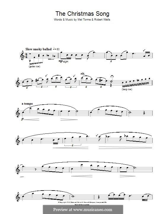 The Christmas Song (Chestnuts Roasting on an Open Fire): Für Flöte by Mel Tormé, Robert Wells