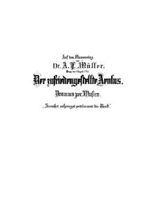 Der zufriedengestellte Äolus, BWV 205: Vollpartitur by Johann Sebastian Bach