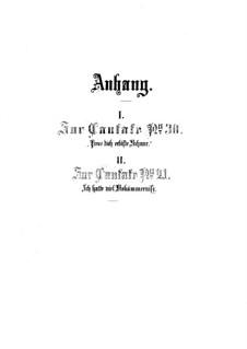 Anhänge zu Kantaten No.30, 21, BWV 21, 30: Anhänge zu Kantaten No.30, 21 by Johann Sebastian Bach