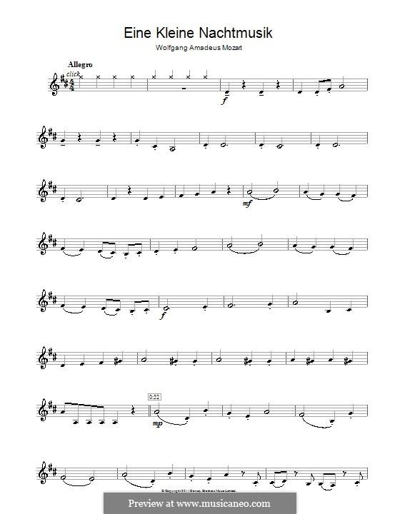 Allegro: Für Klarinette by Wolfgang Amadeus Mozart