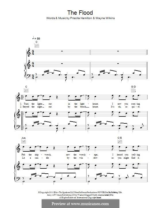 The Flood (Cheryl Cole): Für Stimme und Klavier (oder Gitarre) by Priscilla Renea Hamilton, Wayne Wilkins