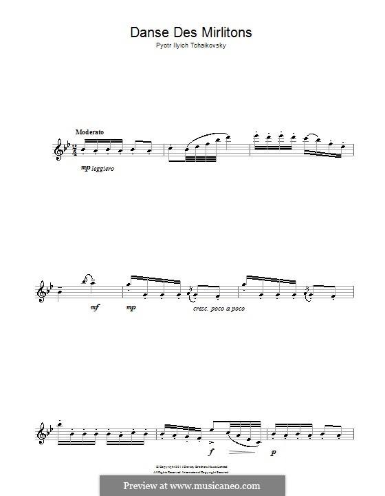 Nr.7 Tanz der Mirlitons: Für Saxophon by Pjotr Tschaikowski