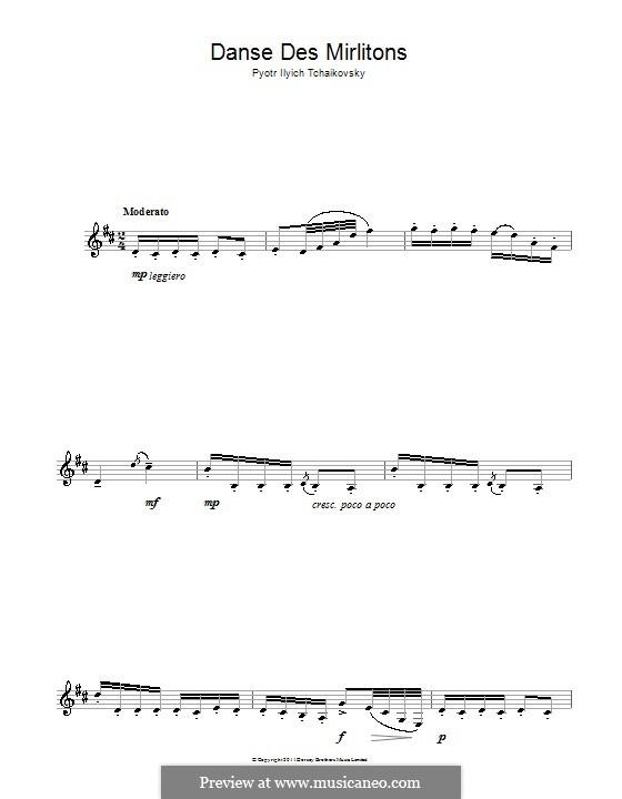 Nr.7 Tanz der Mirlitons: Für Klarinette by Pjotr Tschaikowski