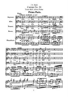 Freue dich, erlöste Schar, BWV 30: Bearbeitung für Stimmen und Klavier by Johann Sebastian Bach
