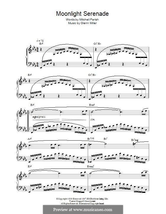 Moonlight Serenade: Für Klavier by Glenn Miller