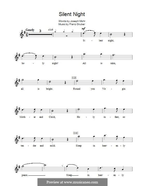 Stille Nacht (Noten zum Direktausdruck): Für Flöte by Franz Xaver Gruber