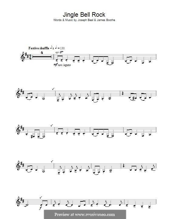 Jingle Bell Rock: Für Klarinette (Chubby Checker) by Jim Boothe, Joe Beal