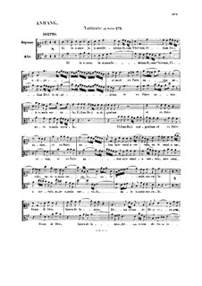 Credo: Variante zu eine Seite by Johann Sebastian Bach