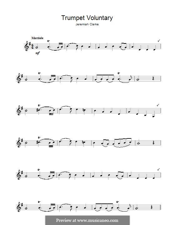 Prince of Denmark's March: Für Klarinette by Jeremiah Clarke