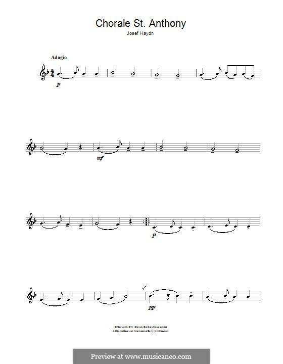 Variationen über ein Thema von Haydn, Op.56a: Thema. Version für Klarinette by Johannes Brahms