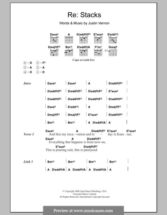 Re: Stacks (Bon Iver): Text und Akkorde by Justin Vernon