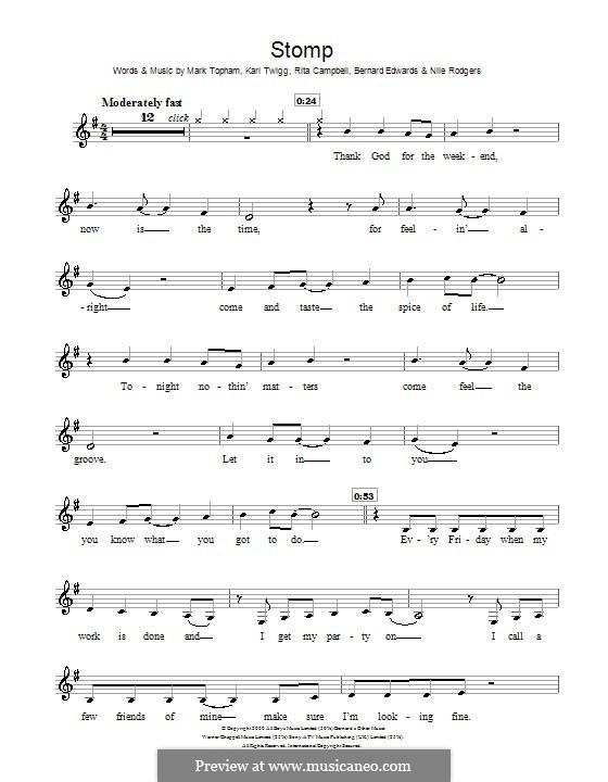 Stomp (Steps): Für Klarinette by Bernard Edwards, Karl Twigg, Mark Topham, Nile Rodgers, Rita Campbell