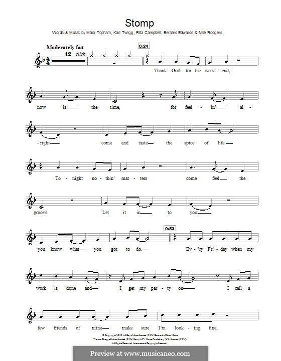 Stomp (Steps): Für Flöte by Bernard Edwards, Karl Twigg, Mark Topham, Nile Rodgers, Rita Campbell