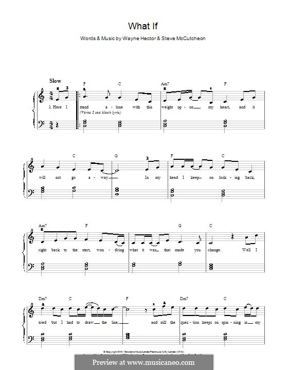 What If (Kate Winslet): Für Klavier, leicht by Steve Mac, Wayne Anthony Hector
