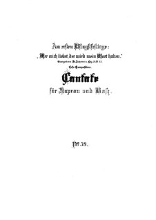 Wer mich liebet, der wird mein Wort halten, BWV 59: Vollpartitur by Johann Sebastian Bach