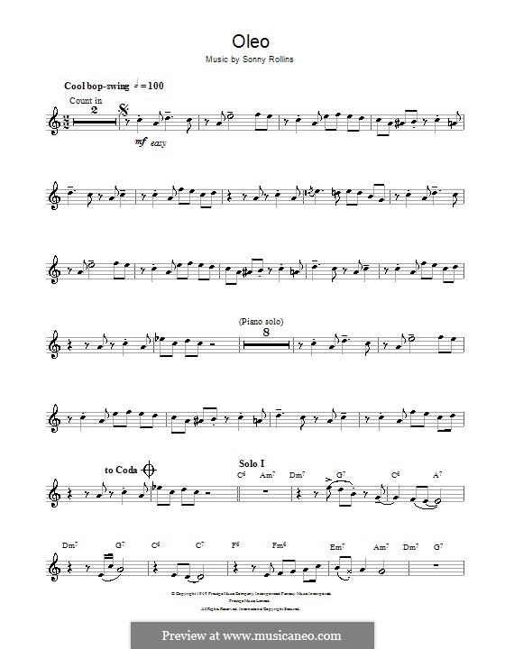Oleo: Für Trompete by Sonny Rollins