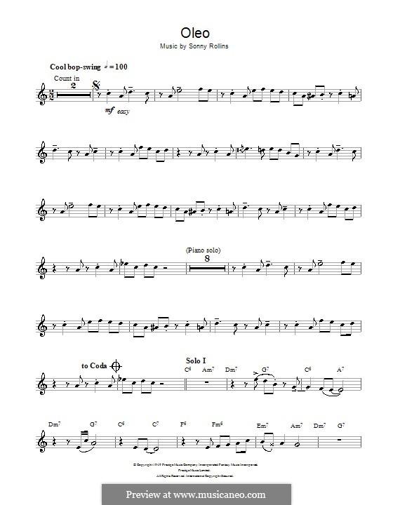 Oleo: Für Tenorsaxophon by Sonny Rollins