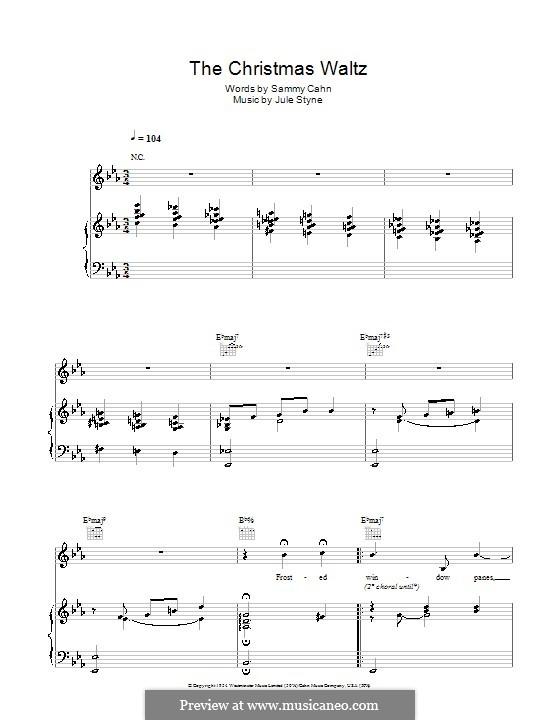 The Christmas Waltz: Für Stimme und Klavier (Frank Sinatra) by Jule Styne
