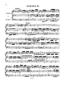 Triosonate für Orgel Nr.4 in e-Moll, BWV 528: Für einen Interpreten by Johann Sebastian Bach