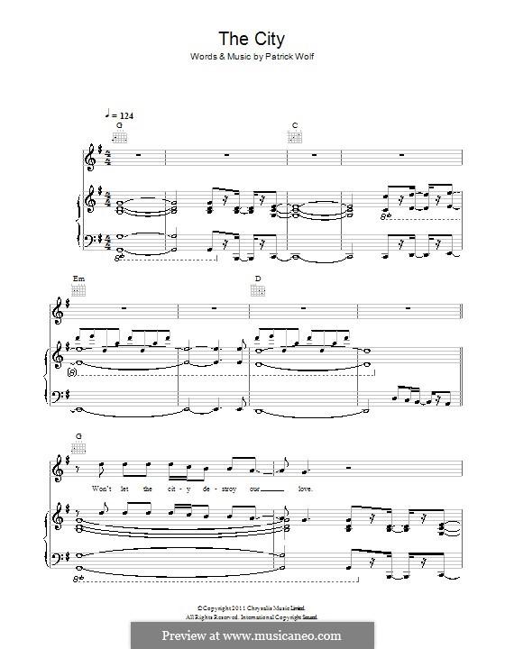 The City: Für Stimme und Klavier (oder Gitarre) by Patrick Wolf