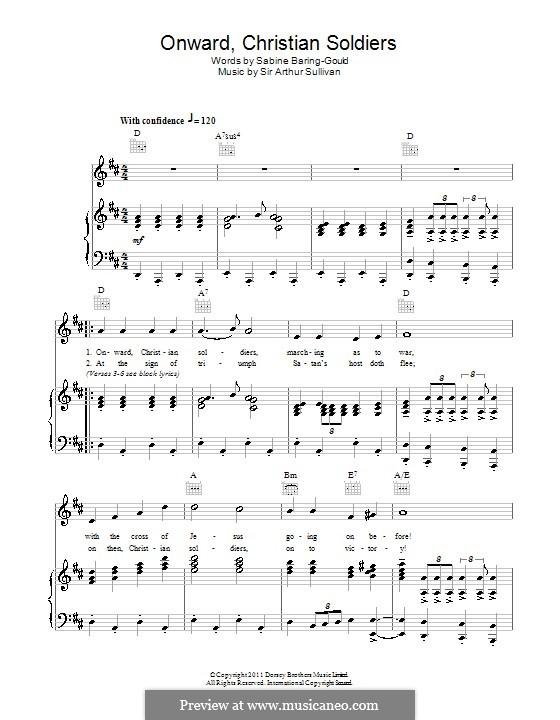 Onward, Christian Soldiers: Für Stimme und Klavier (oder Gitarre) by Arthur Sullivan