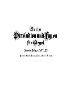 Fantasie und Fuge Nr.7 in c-Moll, BWV 537: Für Orgel by Johann Sebastian Bach