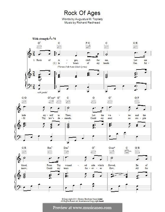 Rock of Ages: Für Stimme und Klavier (oder Gitarre) by Richard Redhead