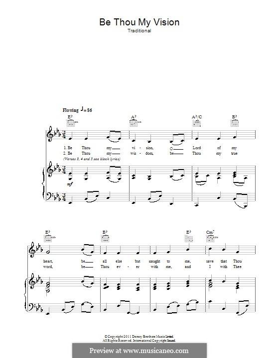 Be Thou My Vision: Für Stimme und Klavier (oder Gitarre) by folklore