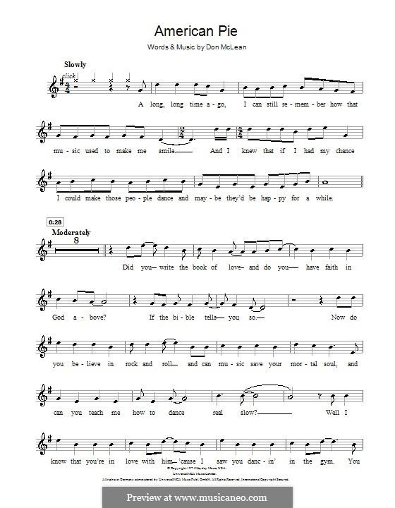 American Pie (Madonna): Für Violine by Don McLean