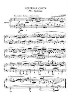 Suite in fünf Sätzen, Op.1: Prelude and Gavotte by Eugen d'Albert