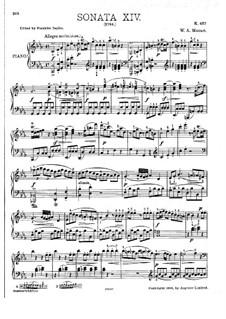 Sonate für Klavier Nr.14 in c-Moll, K.457: Mit Applikatur by Wolfgang Amadeus Mozart