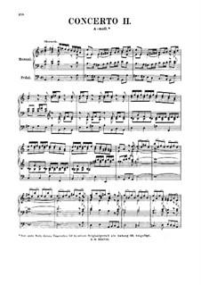 Konzert für Orgel und Orchester Nr.2 in a-Moll, BWV 593: Bearbeitung für Orgel by Johann Sebastian Bach