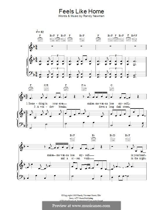 Feels Like Home: Für Stimme und Klavier (oder Gitarre) by Randy Newman