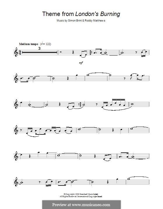 Theme from London's Burning: Für Flöte by Roddy Matthews, Simon Brint