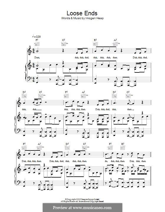 Loose Ends: Für Stimme und Klavier (oder Gitarre) by Imogen Heap