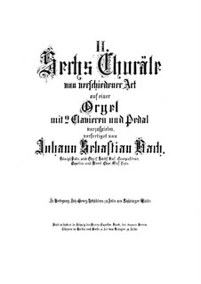 Choralvorspiele II (Schübler Chorales): Vollsammlung, BWV 645-650 by Johann Sebastian Bach