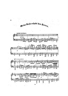 Choralvorspiele II (Schübler Chorales): Meine Seele erhebt den Herren (Bearbeitung für Klavier), BWV 648 by Johann Sebastian Bach