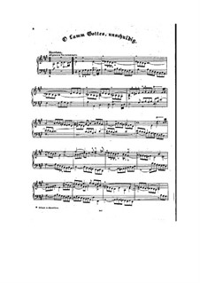Choralvorspiele III (Leipziger Choräle): O Lamm Gottes, unschuldig, BWV 656 by Johann Sebastian Bach