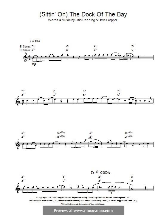 (Sittin' On) The Dock of the Bay: Für Saxophon by Otis Redding, Steve Cropper