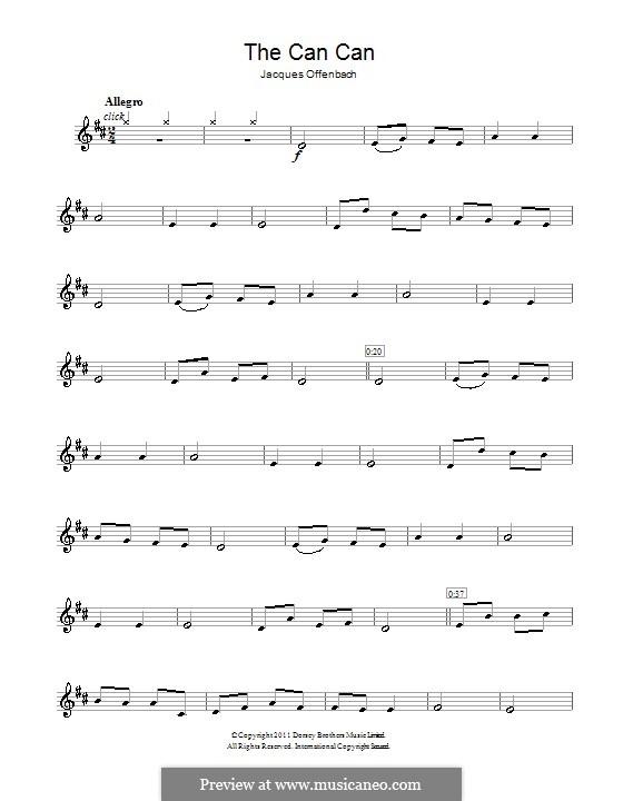 Cancan: Für Klarinette by Jacques Offenbach