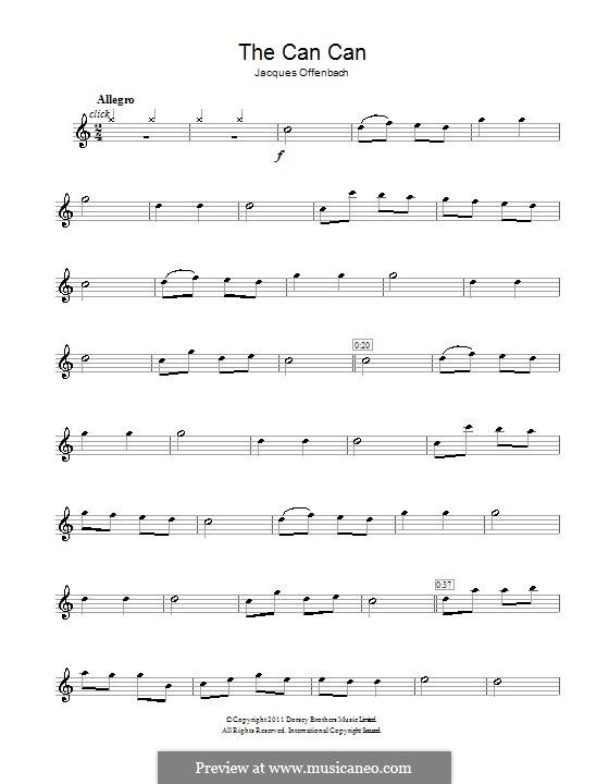 Cancan: Für Flöte by Jacques Offenbach