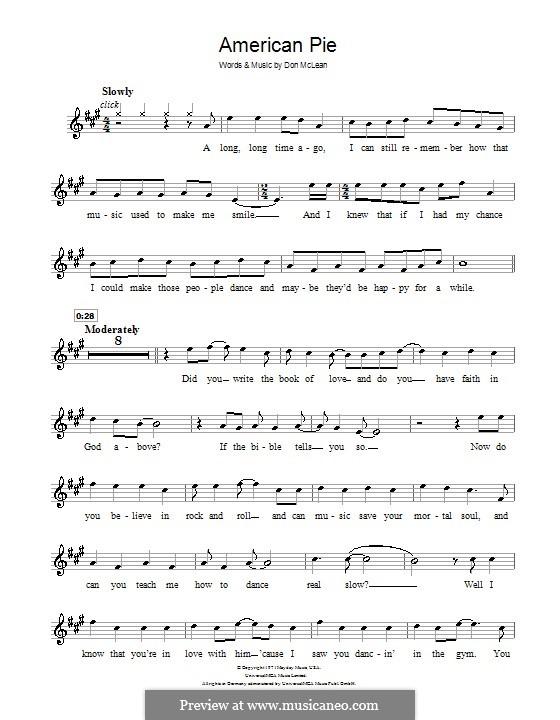 American Pie (Madonna): Für Klarinette by Don McLean