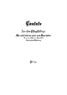 Wer mich liebet, der wird mein Wort halten, BWV 74: Vollpartitur by Johann Sebastian Bach