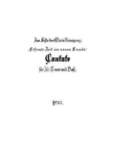 Erfreute Zeit im neuen Bunde, BWV 83: Vollpartitur by Johann Sebastian Bach