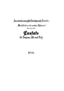 Was soll ich aus dir machen, Ephraim, BWV 89: Vollpartitur by Johann Sebastian Bach