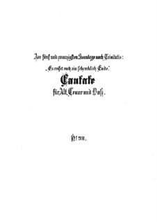 Es reisset euch ein schrecklich Ende, BWV 90: Vollpartitur by Johann Sebastian Bach
