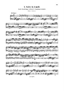 Suite für Cembalo Nr.1 in a-Moll, BWV 818a: Suite für Cembalo Nr.1 in a-Moll by Johann Sebastian Bach