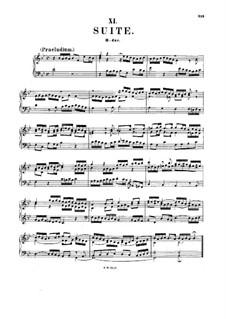 Suite für Cembalo Nr.4 in B-Dur, BWV 821: Für einen Interpreten by Johann Sebastian Bach