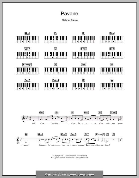 Pavane, Op.50: Für Keyboard by Gabriel Fauré