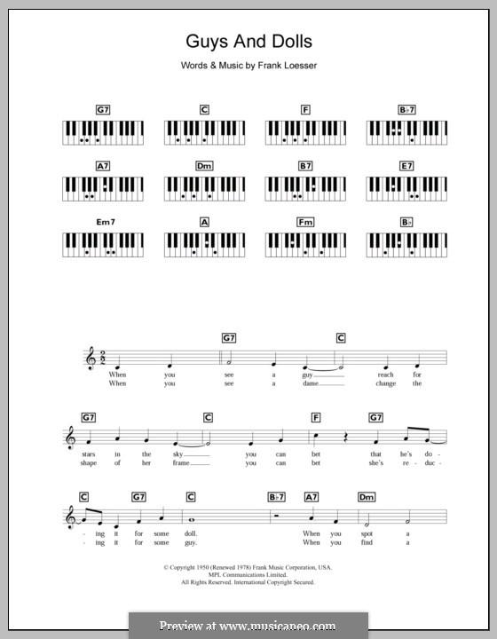 Guys and Dolls: Für Keyboard by Frank Loesser